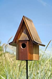 Mahogany Chateau Bird House in Solid Mahogany Wood
