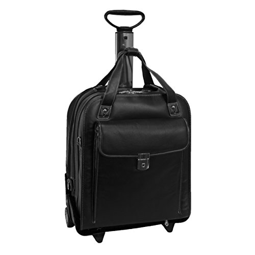 Siamod-Pastenello-Leather-156-Rolling-Laptop-Bag-Black