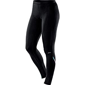 ASICS Women's Thermopolis LT Tights, Black/Heather Iron, Large