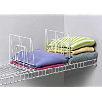 White,Set of 3, Small,Shelf Divider for Wire Shelving