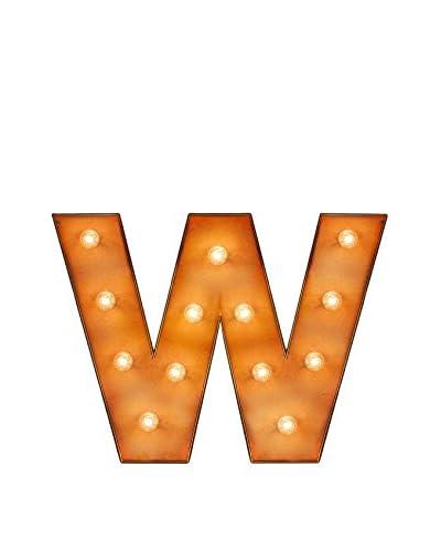"""Surdic Leuchtbild LED """"W"""" Met Licht"""