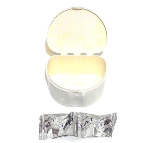 日本製 入れ歯用洗浄容器(洗浄剤2錠入) 3分間でスピード発泡清潔キレイ! C-332