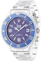 ICE-Watch - Montre Mixte - Quartz Analogique - Ice-Pure - Purple - Big - Cadran Violet - Bracelet Plastique Transparent - PU.PE.B.P.12