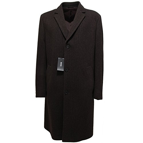 9051L cappotto uomo marrone HUGO BOSS lana giacche jackets men [52]