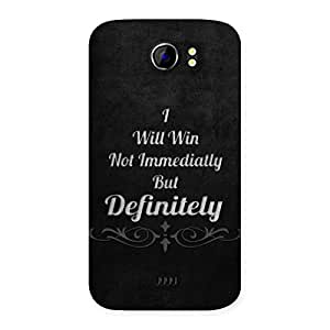 Will Win Back Case Cover for Micromax Canvas 2 A110