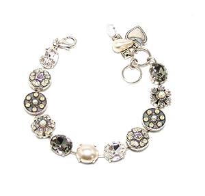 "Amazon.com: Mariana ""Magnolia"" Antique Silver Plated Swarovski Crystal"