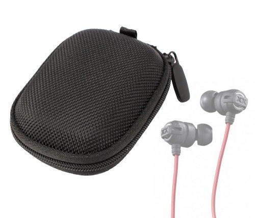 Duragadget Hard Eva Protective Storage Case / Bag For Headphones & Earphones In Black For Jvc: Ha-Fx3X / Ha-Fx1X / Gumy / Jvc Xtreme Xplosives In-Ear Canal Headphones
