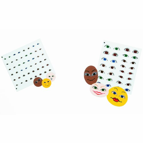 Roylco Eyeball Stickers - Large - Pack of 150 - 1