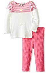 Juicy Couture 2 Piece Dress and Legging Set in Pink and White