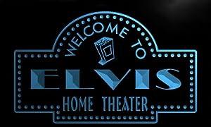 ph673-b Elvis Home Theater Popcorn Bar Beer Neon Light Sign