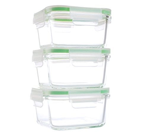 Kinetic 6 Piece Glassworks Series Oven Safe Square Food Storage Set, 15 oz, Clear (Oven Safe Glass Jars compare prices)