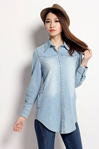 Chariot Trading - Women Jeans Blouse Tops (Style : 3 | Size : Xxl)