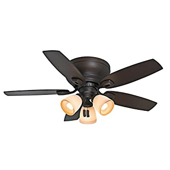 Casablanca Fan Company 53188 Durant 44-Inch Maiden Bronze Ceiling Fan with Five Walnut/Smoked Walnut Blades and Light Kit