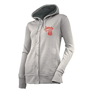 NCAA Wisconsin Badgers Ladies Chunky Cable Hoodie by Ouray Sportswear