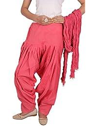 Vasavi Pink Colour Plain Patiala Dupatta Set[Get Additional 10 % Discount ] ] The Great Indain Sale