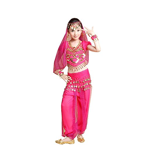 Pilot-trade Kid 3-Piece Indian Dance Dress Set Halloween Belly Dance Costumes