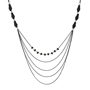 Amazon.com: Sparkling Women Black Beaded Necklace By Urban Jewelry (Long Necklace - 34-41