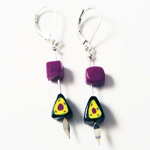 Geometric Dangling Earrings