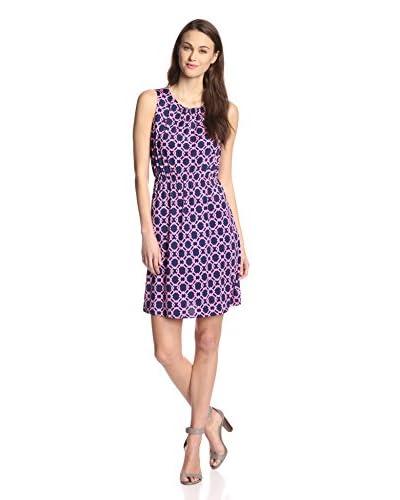 JB by Julie Brown Women's Gilly Sleeveless Dress  [Navy/Pink]