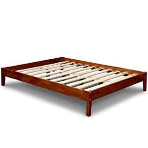 Best Price Mattress Solid Hardwood Platform Bed Twin Cherry Kitchen Dining