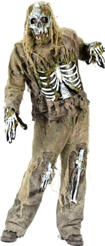 Adult Men's Skeleton Zombie Halloween Costume