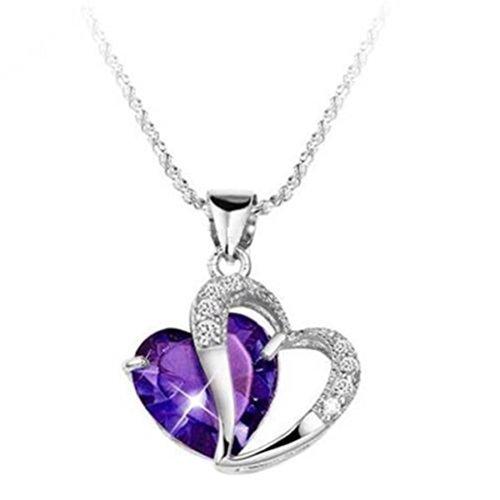 Fashion Women 925 Sterling Silver Amethyst Purple