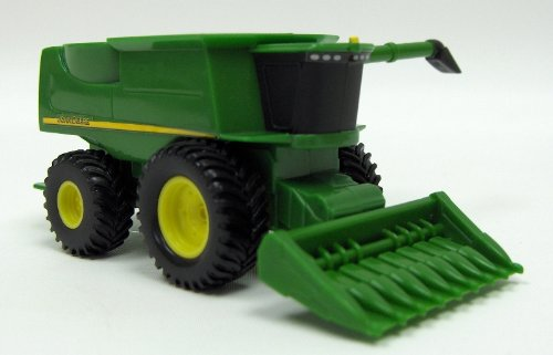 John Deere Mini Toy Combine With Corn Head #35652