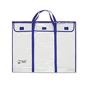 Carson-Dellosa Publishing CD-5638 Clear Vinyl Bulletin Board Decorations Storage Bag with Carry Handles, 30x24