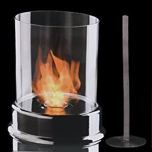 brubaker dekorativer edelstahl glas kamin glass fire bio ethanol als tischfeuer oder f r das. Black Bedroom Furniture Sets. Home Design Ideas