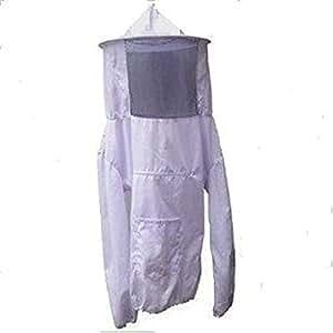 鉄壁ガード 防護服 害虫駆除 蜂 駆除 ぶよ 蚊 対策 虫よけ 養蜂 草刈り ガーデニング 白
