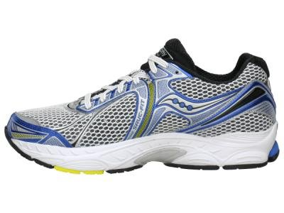 Saucony Men's Powergrid Triumph 9 Running Shoe,White/Royal/Yellow,10 W US