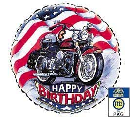 "Amazon.com: ""Harley"" Happy Birthday Mylar Balloon 18"
