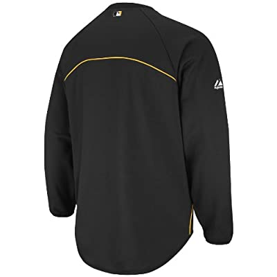 MLB Pittsburgh Pirates Long Sleeve Crew Neck Thermabase Tech Fleece Pullover Boys'