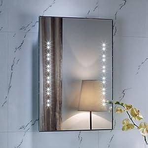 LED Bathroom Sensor Mirror Illuminated Demister 50 x 70 x 3.5cm