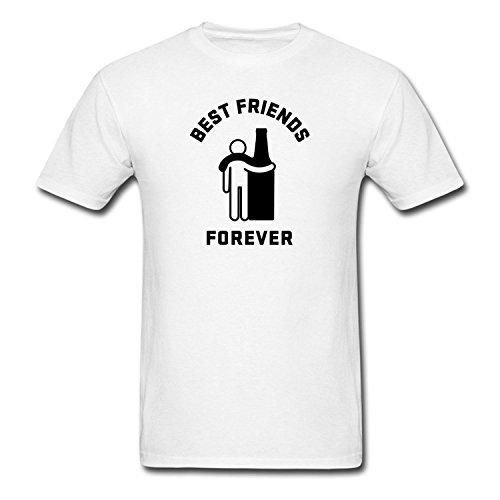 Fashion Men's Humor Best Friends Forever T-Shirts WhiteYILIAX02064XXLarge