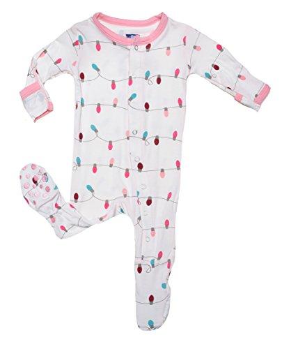 Kickee Pants Baby-Girls Newborn Print Footie - Preemie (Natural Lights) front-85672
