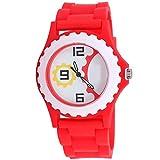 Super Drool Gear Shape Dial Red Kids Wrist Watch