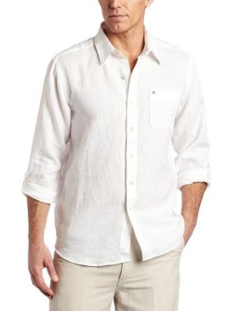 Quiksilver Waterman Men's Burgess Bay Woven Shirt, White, Large