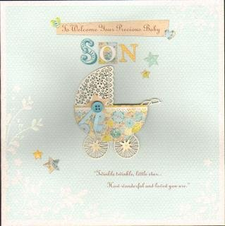 A Baby Son, New Baby Greetings Cards