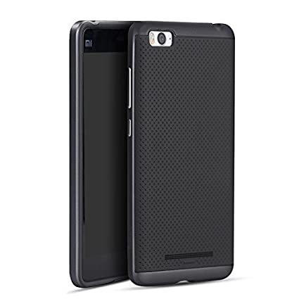 Tingtong-Original-iPaky-Brand-Luxury-High-Quality-Ultra-Thin-Dotted-Silicon-Black-Back-+-PC-Black-Frame-Bumper-Back-Case-Cover-For-Xiaomi-Mi4i/Mi4C