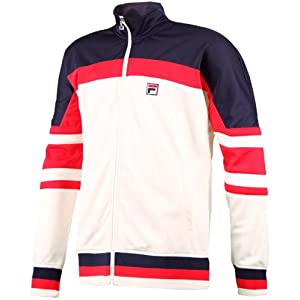 Fila Tennis Men's Retro Jacket (X-Large, Beige)