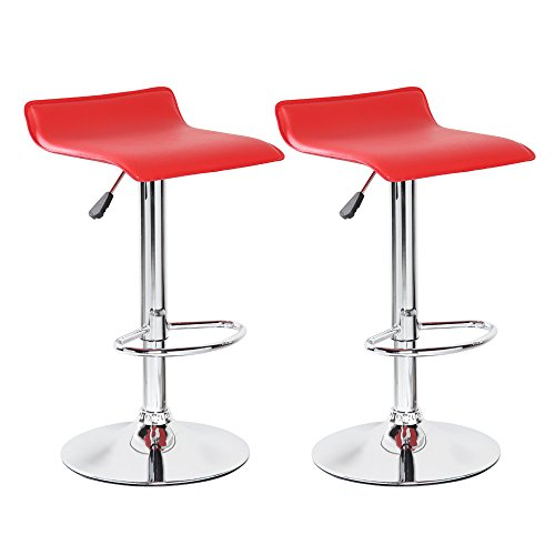 Red Swivel Kitchen Bar Stools
