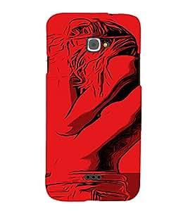 PrintVisa Cool Girl 3D Hard Polycarbonate Designer Back Case Cover for Infocus M350