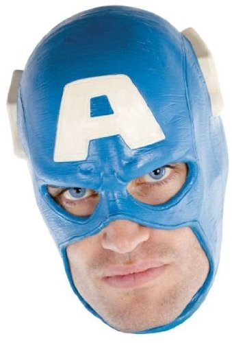 Avengers - Costume Mask: Captain America Deluxe- Adult