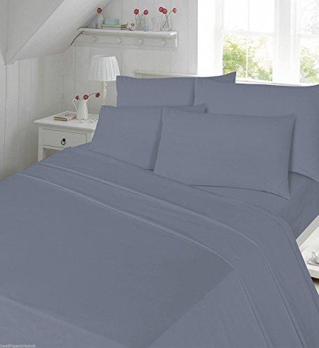 Lino Zone-flanella 100% cotone spazzolato caldo e Cosy (Single Sheet Set, tinta unita Grigio)