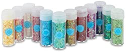 Martha Stewart Glitter 12pc Iridescent Vint Leaf