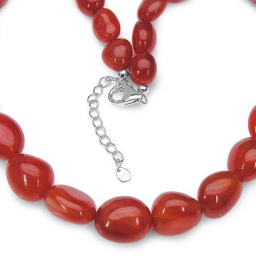 Jewelry-Schmidt-Gem Necklace Carnelian / 423 ct-925 Sterling Silver