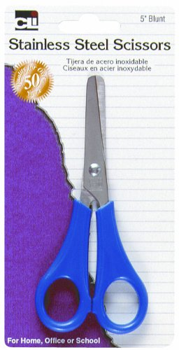 Charles Leonard Inc., Scissors, Student 5 Inches Blt, Assorted Colors, 1/Card (80530)