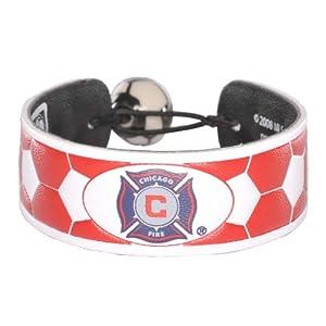 MLS Chicago Fire Team Color Soccer Bracelet