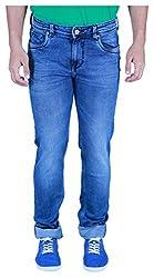 INTEGRITI Men's Jeans (AROGANCE-KJ-112 LNFT DMX_34, Blue, 34)